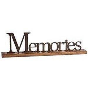 NEW Iron Memories Photo Holder w/wood base